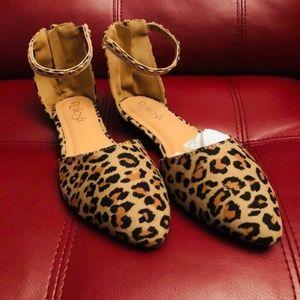 Shoes - Animal Tan Leopard print Flat shoes